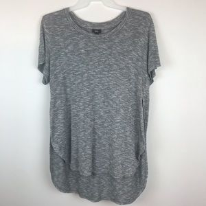 Mossimo Gray Short Sleeve High Low Tunic Size XXL
